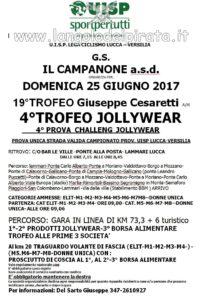 19° Trofeo Giuseppe Cesaretti 4° Trofeo Jollywear 4^ prova Challange Jollywer Lammari (LU) @ Bar Le Ville | Capannori | Toscana | Italia