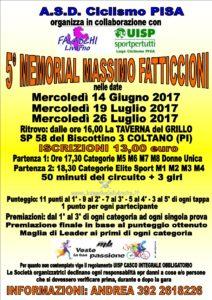 5° Memorial Massimo Fatticcioni 3^ Prova Coltano (PI) @ La Taverna del Grillo | Toscana | Italia