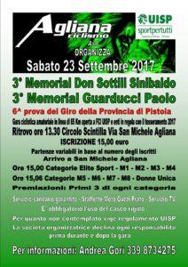 3° Memorial Don Sottili Sinibaldo 6^ Prova Giro della Provincia di Pistoia S. Michele Agliana (PT) @ Circolo Scintilla | Agliana | Toscana | Italia
