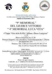 9° Memorial Del Giudice Vittorio 4° Memorial Luca Vita Massa @ Negozio Il Ciclista | Massa | Toscana | Italia